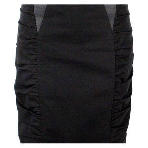 💄Nanette Lepore chic ruched knee length skirt